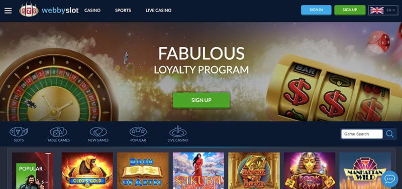 webby slot casino